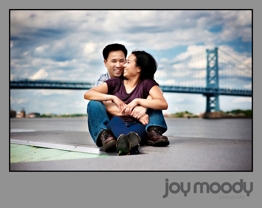 Joy Moody Philadelphia Old City Engagement Shoot