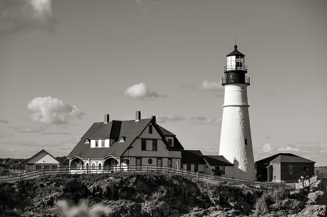 Joy Moody, Portland, Maine, Light house, blank note card
