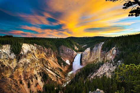 Joy Moody, yellowstone falls, sunset, blank note cards