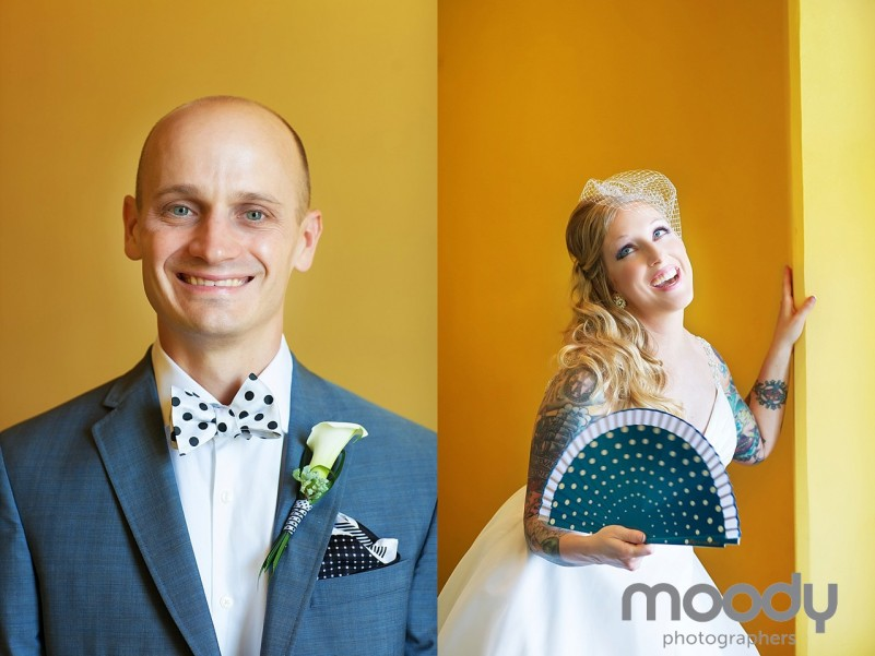 Colorful Congress Hall Wedding, tattooed bride, Cape May, Moody Photographers, Joy Moody